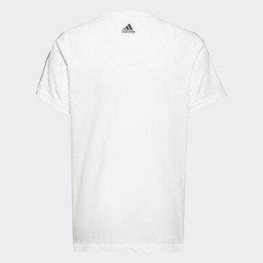 Boys Sportswear White adidas Essentials Logo Tee