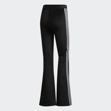 Pants Flared Track Negro Mujer Originals