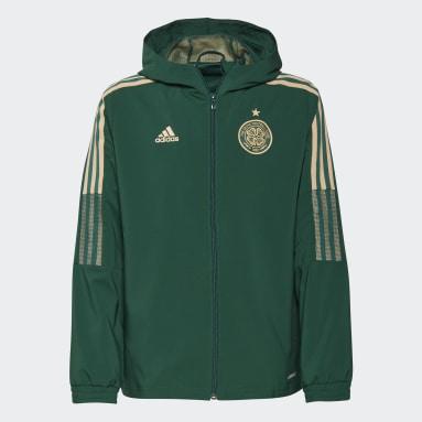 Giacca da rappresentanza Tiro Celtic FC Verde Bambini Calcio