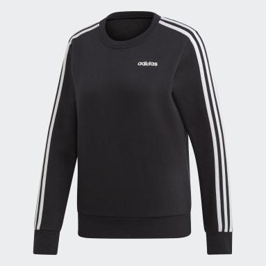 Women's Essentials Black Essentials 3-Stripes Sweatshirt