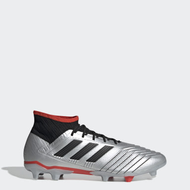 Calzado de fútbol Predator 19.2 Terreno Firme Plata Hombre Fútbol