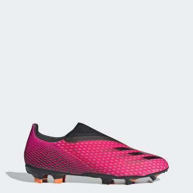 Football Pink X Ghosted.3 Laceless Firm Ground Boots