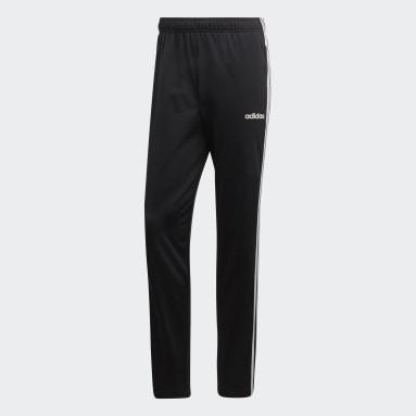 Mænd Fitness Og Træning Sort Essentials 3-Stripes Tapered bukser