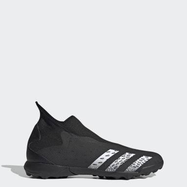 Men Football Black Predator Freak.3 Laceless Turf Boots
