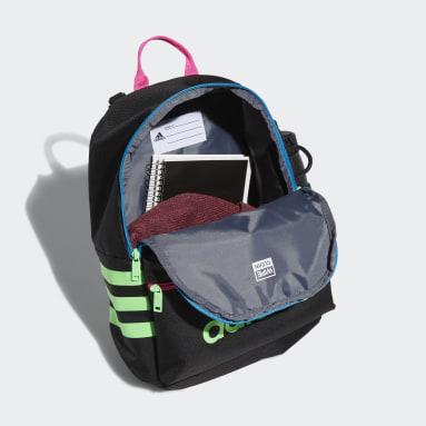 Children Training Black Classic 3-Stripes Backpack
