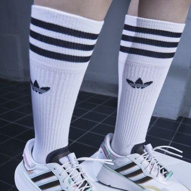Originals White Solid Crew Sock 3 Pairs