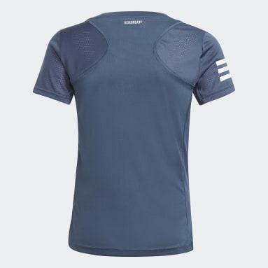 Mädchen Padel-Tennis Club Tennis T-Shirt Blau