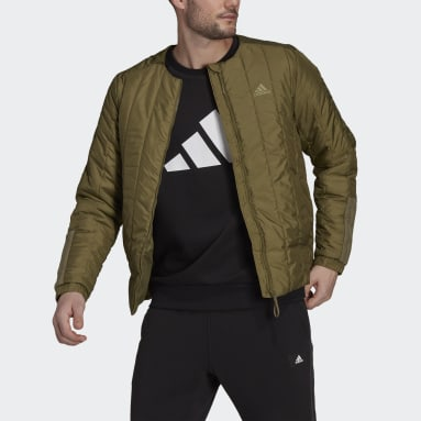 Men City Outdoor Green Itavic 3-Stripes Light Jacket