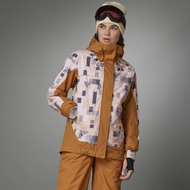 Women TERREX Brown Resort Two-Layer Insulated Jacket