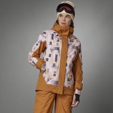 Frauen TERREX Resort Two-Layer Insulated Skijacke Braun