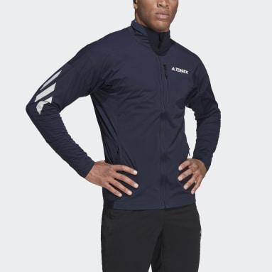 Herr TERREX Blå Terrex Xperior Cross-Country Ski Soft Shell Jacket