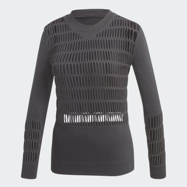 Playera Warp Knit Gris Mujer adidas by Stella McCartney
