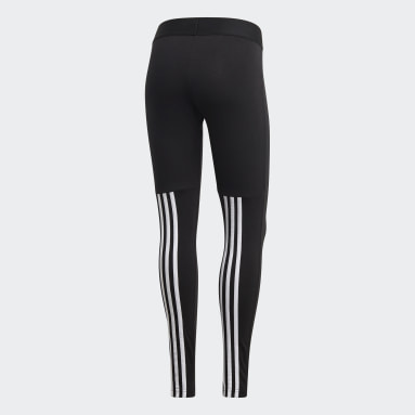 Women Sport Inspired Black Must Haves 3-Stripes Tights