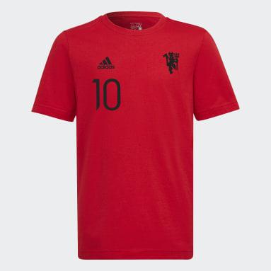 Boys Fodbold Rød Manchester United Graphic T-shirt