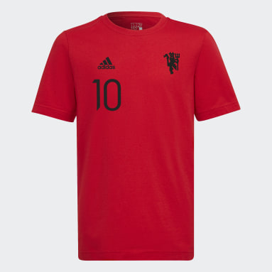 T-shirt Graphic Manchester United FC Rosso Ragazzo Calcio