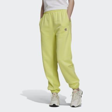 Pantalón Adicolor Essentials Fleece Amarillo Mujer Originals