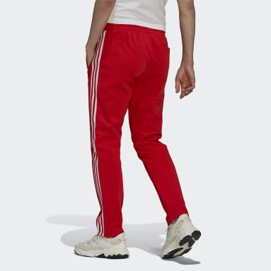 Men Originals Red Adicolor Classics Beckenbauer Primeblue Tracksuit Bottoms