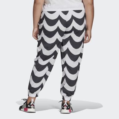 Kvinder Originals Sort Marimekko Cuffed Woven Plus Size træningsbukser