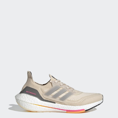 Men Running Beige Ultraboost 21 Shoes