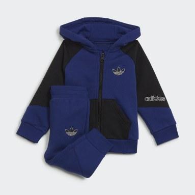 Conjunto chaqueta con capucha y pantalón adidas SPRT Collection Azul Niño Originals