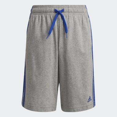 Boys Lifestyle Grey adidas Essentials 3-Stripes Shorts