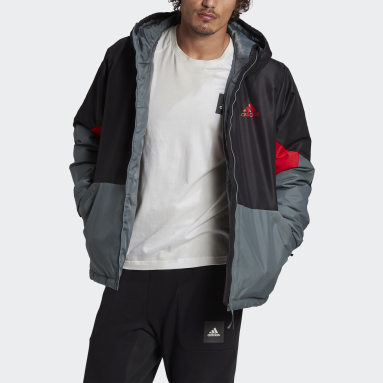 Men City Outdoor Black Back to Sport Insulated Jacket