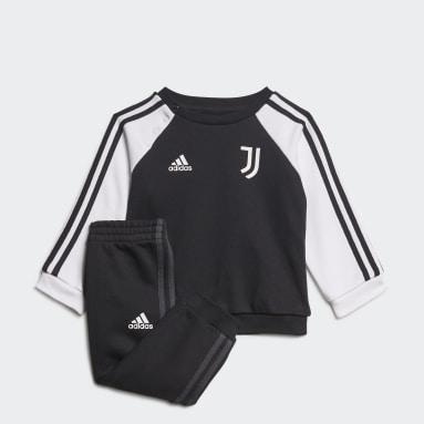Děti Fotbal černá Souprava Juventus 3-Stripes Baby