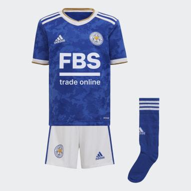 Divisa Mini Home Leicester City FC Blu Bambini Calcio