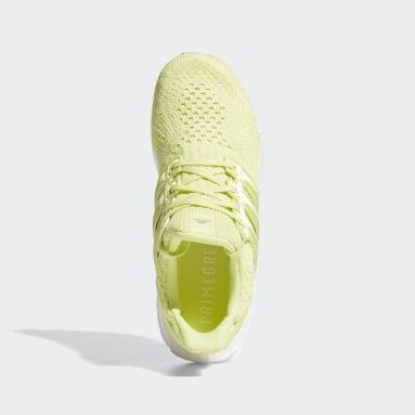 Women Running Yellow ULTRABOOST 5.0 DNA