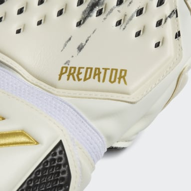 Football White Predator 20 Match Fingersave Gloves