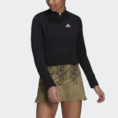 Women Tennis Black Tennis Primeblue Primeknit Jacket