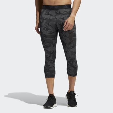 Tight Camo 3/4 Gris Hommes Fitness Et Training