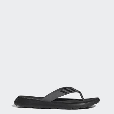 Swimming Black Comfort Flip-Flops