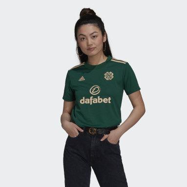 Women Football Green Celtic FC 21/22 Away Jersey