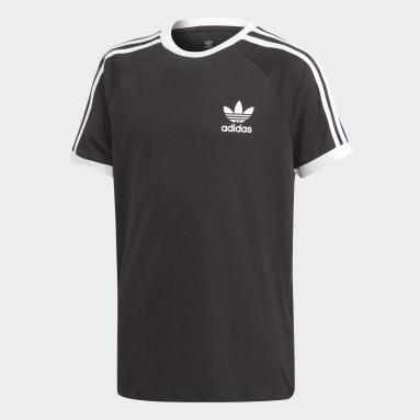 T-shirt3-Stripes Noir Garçons Originals