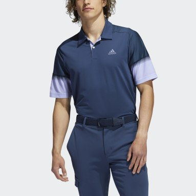 Men's Golf Blue Statement Recycled Content HEAT.RDY Polo Shirt