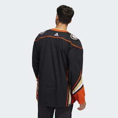 черный Оригинальный хоккейный свитер Ducks Home