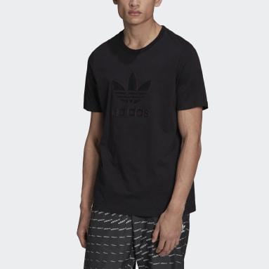 Mænd Originals Sort Graphics Trefoil Series T-shirt