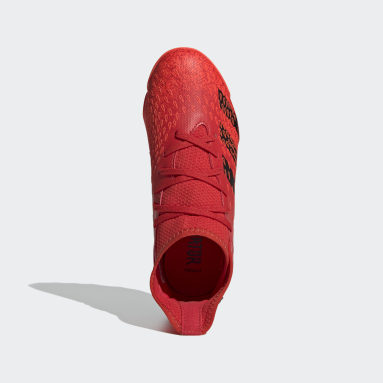 Zapatos de Fútbol Predator Freak.3 Pasto Sintético Rojo Niño Hockey