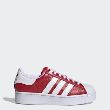 Women's Originals Red Superstar Bold Shoes