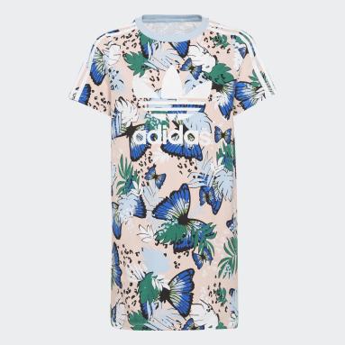 Robe t-shirt HER Studio London Animal Flower Print Rose Filles Originals