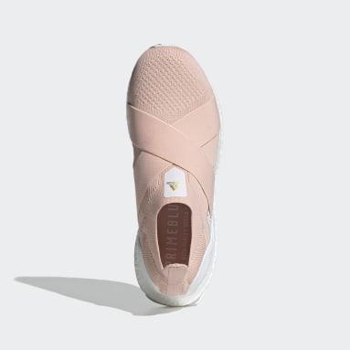 Women Running Pink ULTRABOOST 5.0 DNA SLIP-ONS