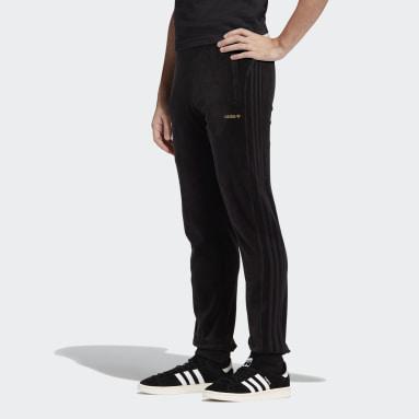 Mænd Originals Sort adidas SPRT Velour 3-Stripes bukser