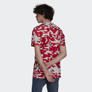 Camiseta calentamiento Manchester United Rojo Hombre Fútbol