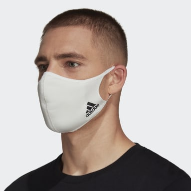 Sportswear สีขาว Face Cover Badge of Sport (ไม่เหมาะสำหรับใช้ทางการแพทย์)