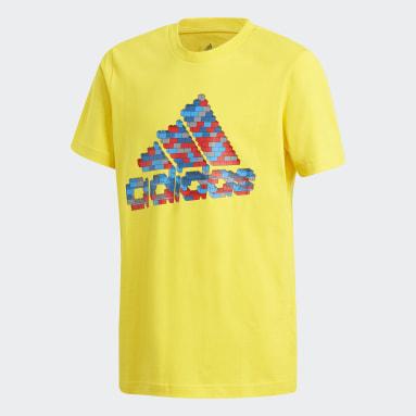 T-shirt adidas x Classic LEGO® Graphic Jaune Garçons Fitness Et Training