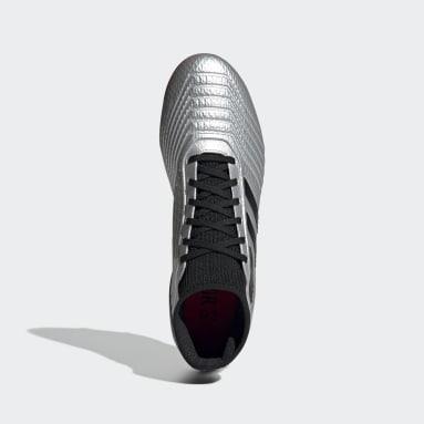 Calzado de Fútbol Predator 19.3 Terreno Firme Plata Hombre Fútbol