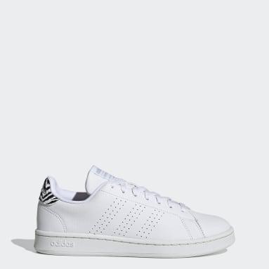 Women Sport Inspired White Advantage Shoes
