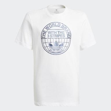 Camiseta Graphic Print Blanco Niño Originals