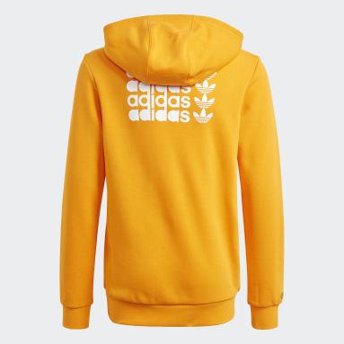 Graphic Hoodie Pomarańczowy